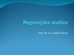 Regresijska analiza