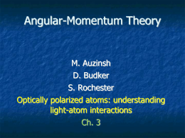 Optically polarized atoms_ch_3_Ang_Mom_Theory