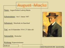 "Präsentation ""August Macke"""