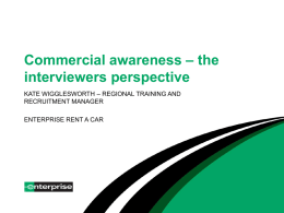 Commercial awareness – the interviewers perspective