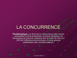 LA CONCURRENCE - Amazon Web Services
