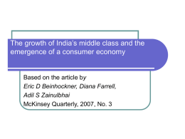 The growth of India`s middle class