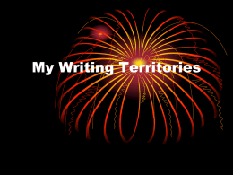 Your Writing Territories