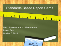 report card info-Parents - North Providence School Department