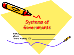 Forms of Governments PPT