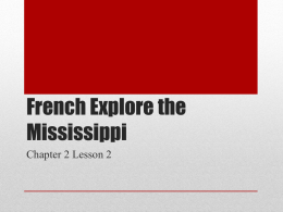 French Explore the Mississippi