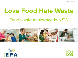 background to Love Food Hate Waste – PowerPoint
