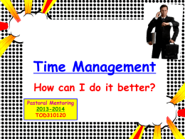 Time Management - GCSE - Grosvenor Grammar School