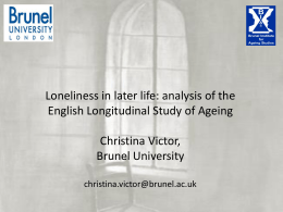 who is lonely and when? - Campaign to End Loneliness