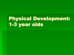 Physical Development: 1-3 year olds Ages