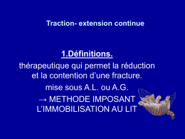 TRACTION – SUSPENSION ( Extension continue )