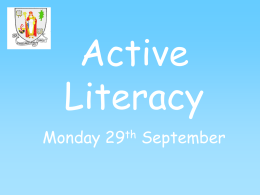 Active Literacy - Banchory Primary School