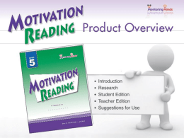 MotivationReadingProductOverview