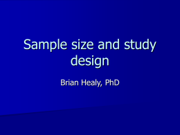 Power and sample size - MGH Biostatistics Center