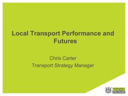 Nottingham City Centre Integrated Transport Major