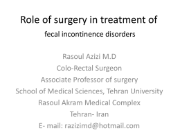 Role of surgery in treatment of constipation