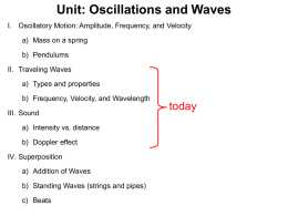 Wave Motion and Sound