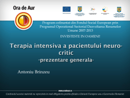 Terapia intensiva a pacientului neurologic grav