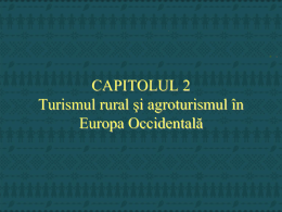 Agroturism in Europa Occidentala