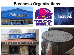 Business Organizations Power Point - Troup 6