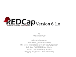 Brief Introduction to Redcap