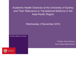UNIS Template - The John Curtin School of Medical Research