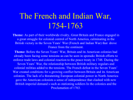 6 The French and Indian War