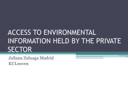 access to environmental information held by the private sector
