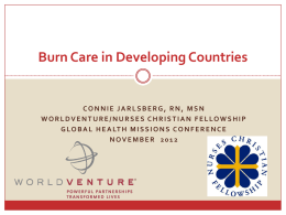 Burn Care - Global Missions Health Conference