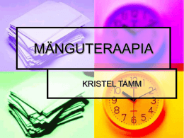 MÄNGUTERAAPIA - WordPress.com