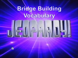 Bridge Vocabulary Jeopardy