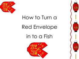 How to Make a Fish Out of a Red Envelope