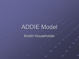Addie Model - jwalkonline.org