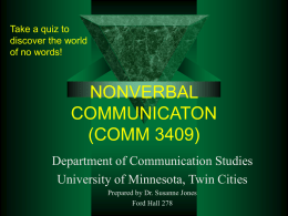 Nonverbal Communication Quiz
