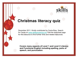 L1-2 Christmas Literacy Quiz