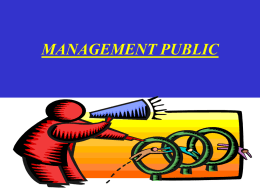 Management public PPT