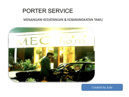 PORTER SERVICE - WordPress.com