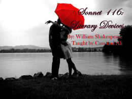 Sonnet 116: Literary Devices