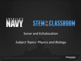Sonar - Navy STEM for the Classroom