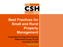 Best Practices for Small and Rural Property Management
