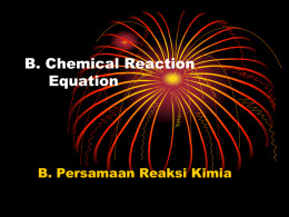 2.Chemical Reaction Equation
