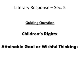 NOTES - response To Literature