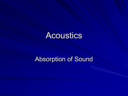 Absorption of Sound