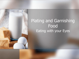 Food Plating and Garnishing