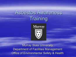 Asbestos Awareness PowerPoint Training
