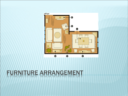 Furniture Arrangement