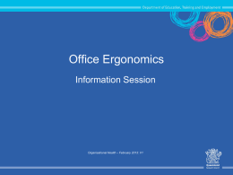 Office Ergonomics Information Session
