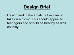 Designing of muffins - Llantwit Major School
