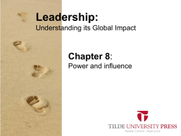 Leaderhip PowerPoint Chapter 8