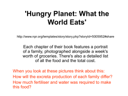 `Hungry Planet: What the World Eats`